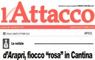 """d'Araprì fiocco """"rosa"""" in Cantina"""