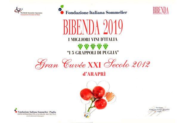 5Grappoli Guida Vini BIBENDA 2019