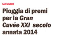 Pioggia di Premi per la Gran Cuvée XXI secolo 2014